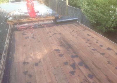 Re-felt flat roof